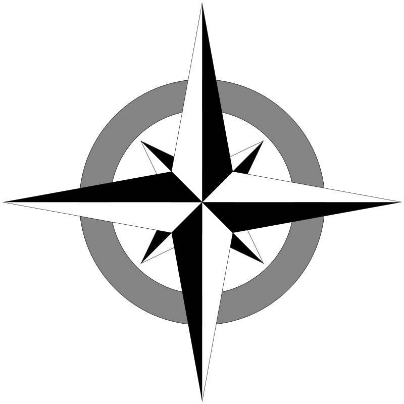 free vector Compass Rose