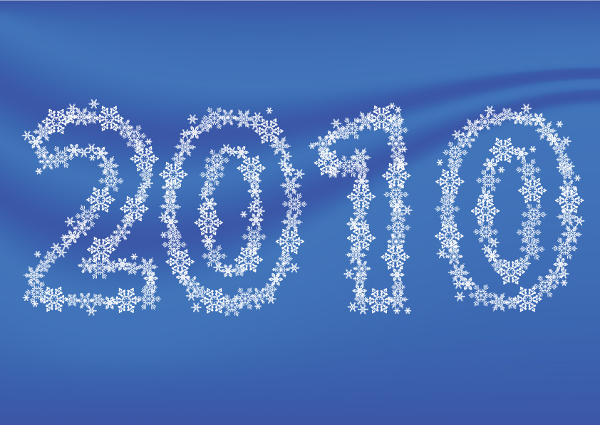 free vector Composition of the 2010 vector snowflakes