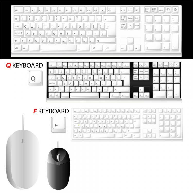free vector Computer accessories 01 vector