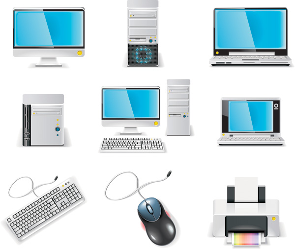 free vector Computer equipment icon vector