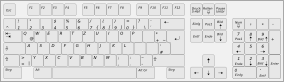 free vector Computer Keyboard Layout De clip art