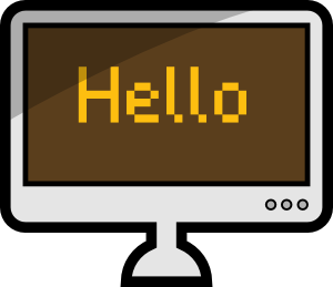 free vector Computer Lcd Screen clip art