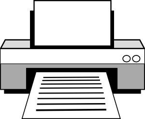 free vector Computer Printer clip art