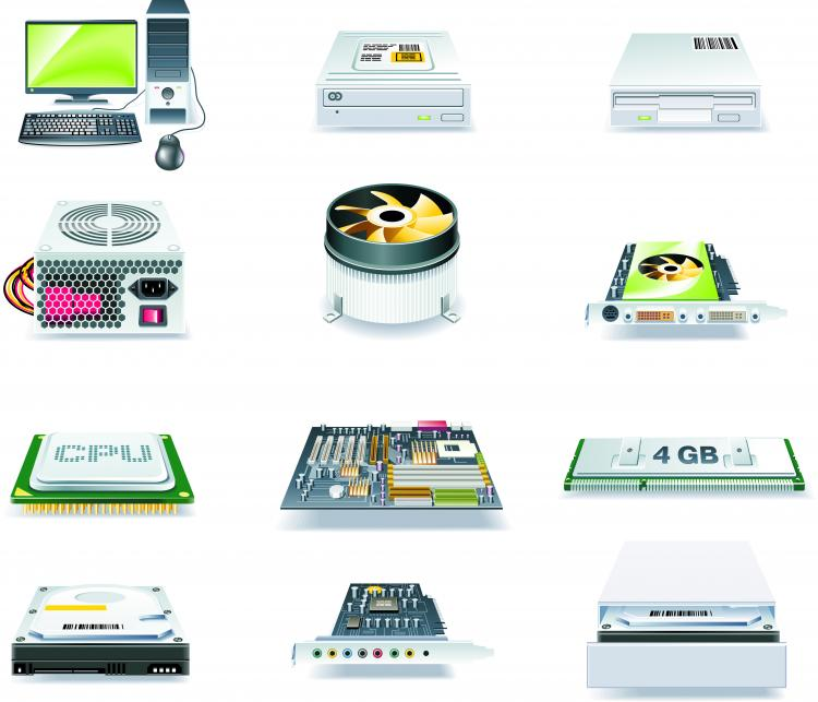 free vector Computers technology icon vector