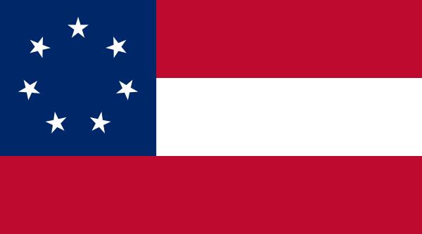 free vector Confederate States Of America Flag clip art
