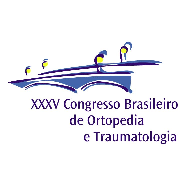 free vector Congresso brasileiro de ortopedia e traumatologia