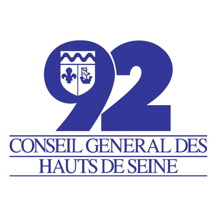 free vector Conseil general des hauts de seine 92