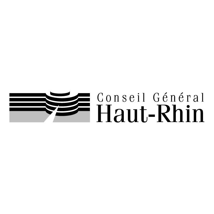 free vector Conseil general du haut rhin 0