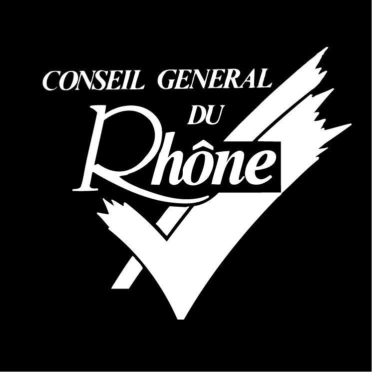free vector Conseil general du rhone 0