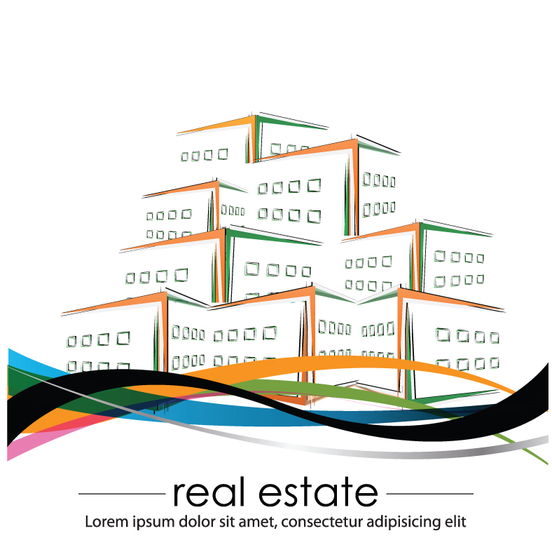 free vector Construction and real estate simple pen drawing 03 vector