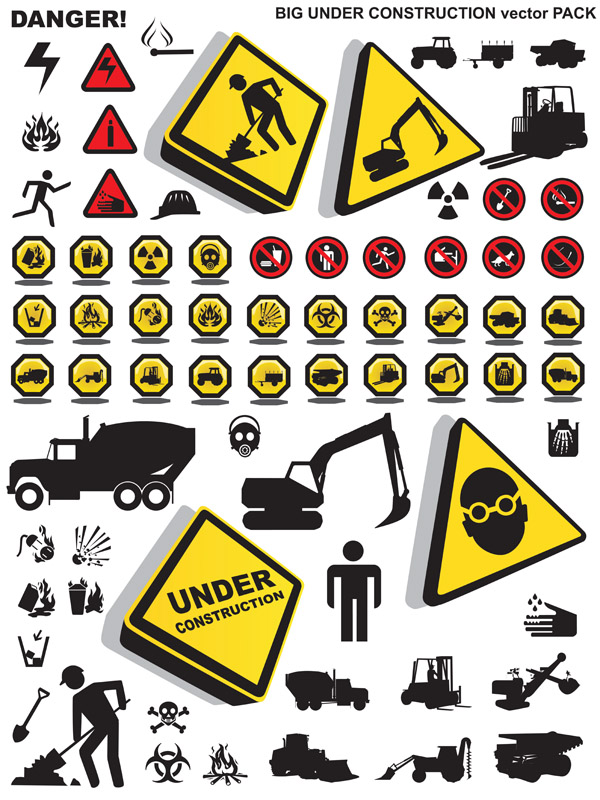 free vector Construction please note that security icon vector