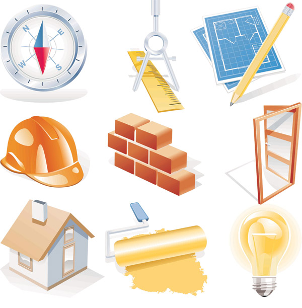 free vector Construction site theme icon vector
