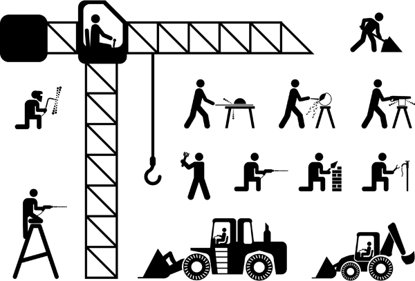 free vector Construction workers