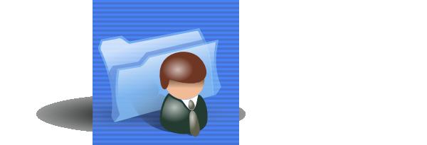 free vector Contacts Folder Icon clip art