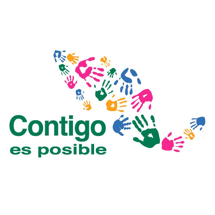 free vector Contigo es posible