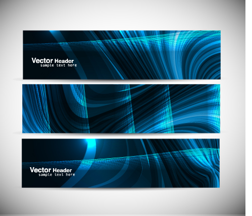 free vector Cool banner04 vector