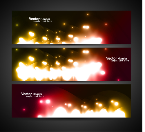free vector Cool banner05 vector