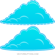 free vector Cool Blue Fluffy Clouds