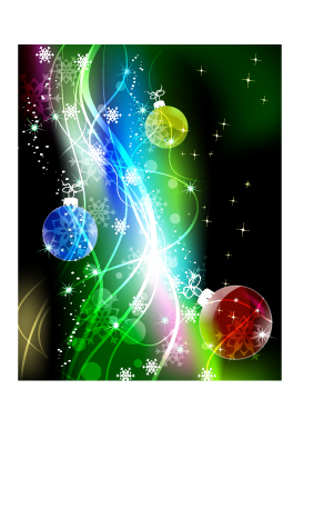 free vector Cool christmas symphony of light vector background