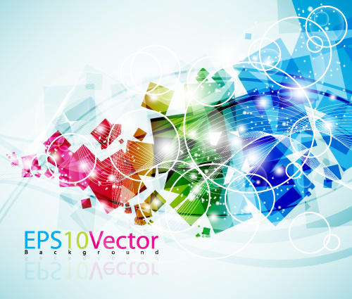 free vector Cool colorful vector background