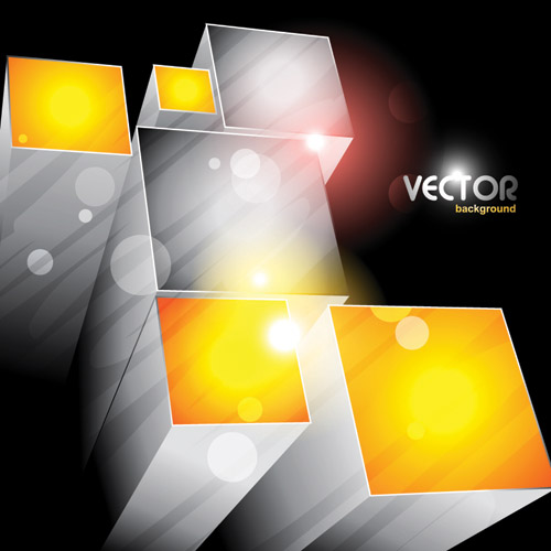 free vector Cool cube vector background