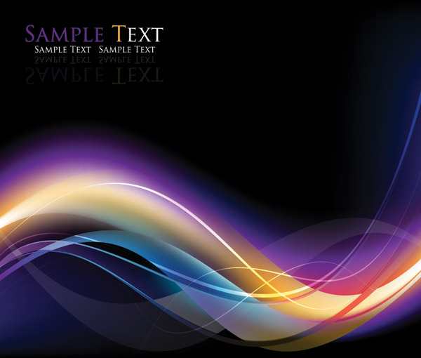 free vector Cool dynamic light background vector symphony