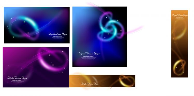 free vector Cool glare background vector 15956