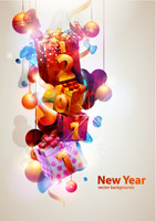 free vector Cool glare new year theme vector 2