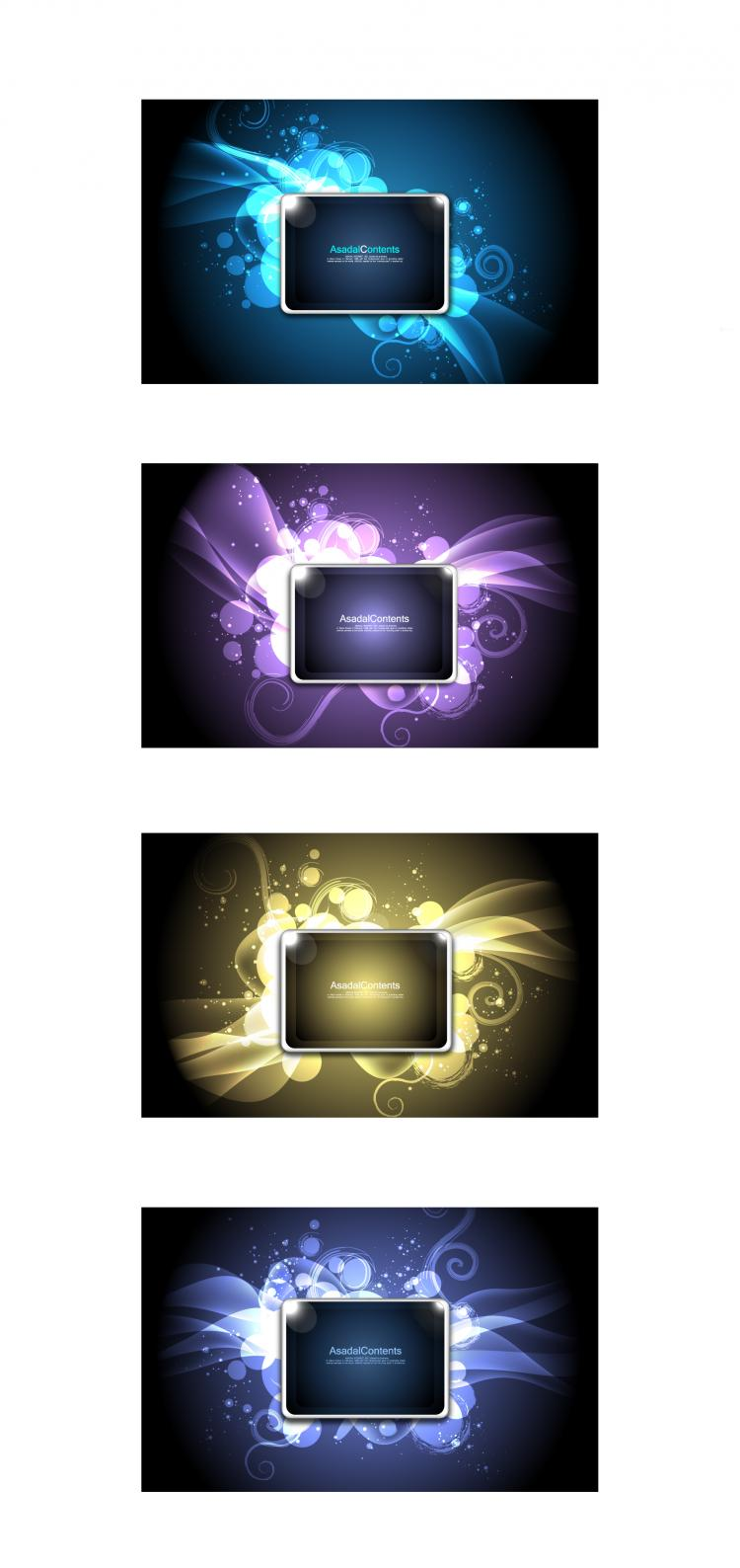 free vector Cool glare pattern vector series 3