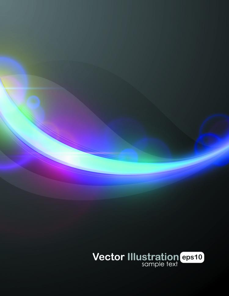 free vector Cool halo background vector 2