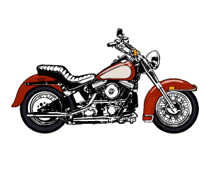 free vector Cool motorcycle vector material