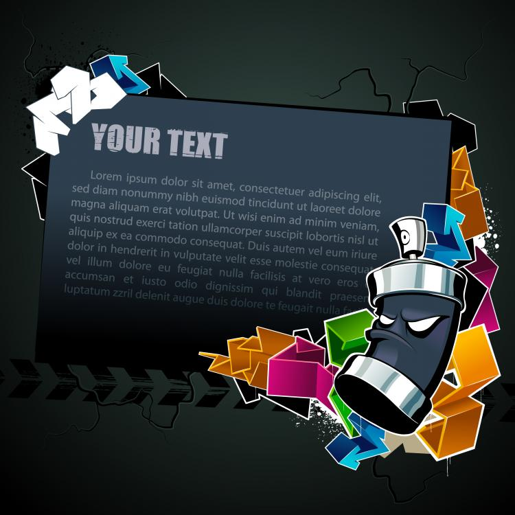 free vector Cool text box black background vector 2