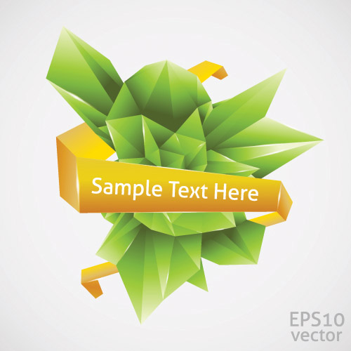 free vector Cool threedimensional graphics vector 2