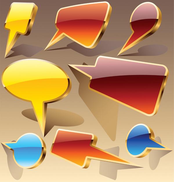 free vector Cool threedimensional icon vector