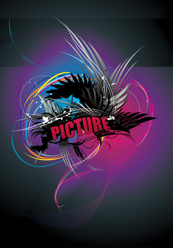 free vector Cool wings of light vector