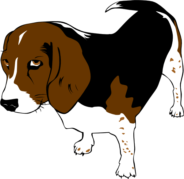 free vector Copper The Beagle clip art