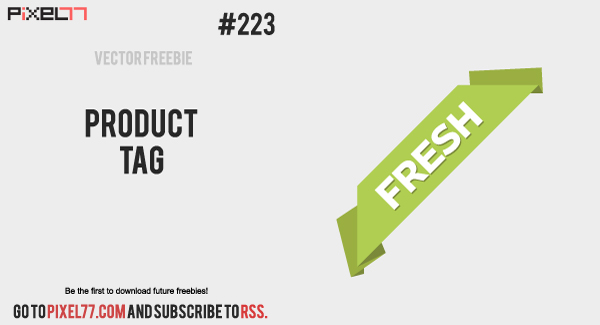 free vector Corner Ribbon Vector - Free Vector of the Day #223: Product Tag