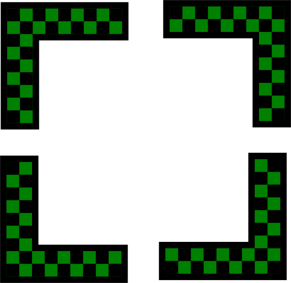 free vector Corners Design Worldlabel Com Green Checkers clip art