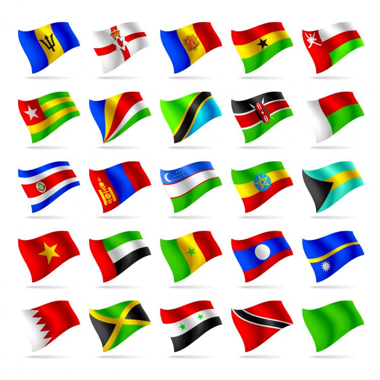 free vector Countries and regions flag flag vector