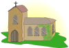 free vector Country Church clip art