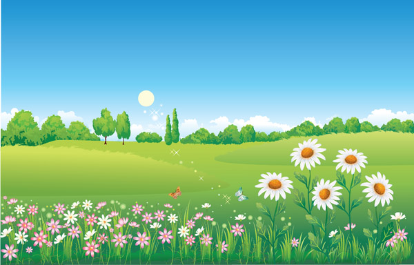 free vector Countryside scenery vector 4194