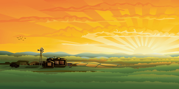 Countryside Scenery 4177 Free Eps Download 4 Vector