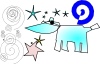 free vector Cow And Stars clip art