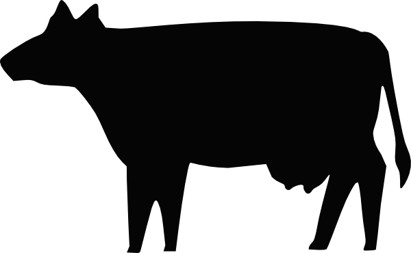 cow silhouette clip art free vector 4vector rh 4vector com beef cow silhouette vector cow vector silhouette