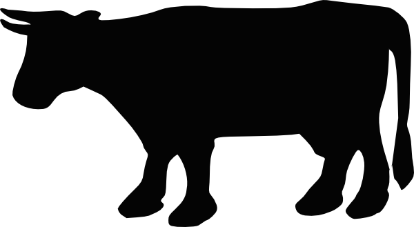 free vector Cow Silhouette clip art