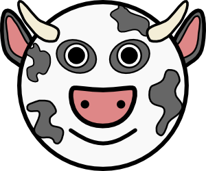 free vector Cow Vache clip art