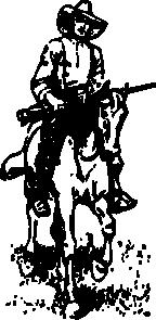 free vector Cowboy On A Horse clip art