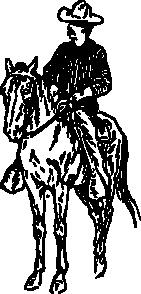 free vector Cowboy On Horse clip art