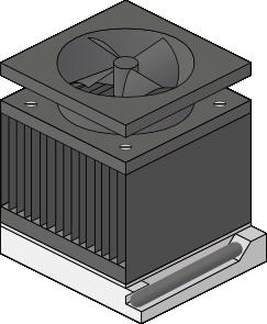 free vector Cpu Heatsink Fan Socket Amd Duron clip art