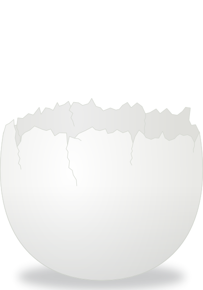 Cracked Egg clip art Free Vector / 4Vector